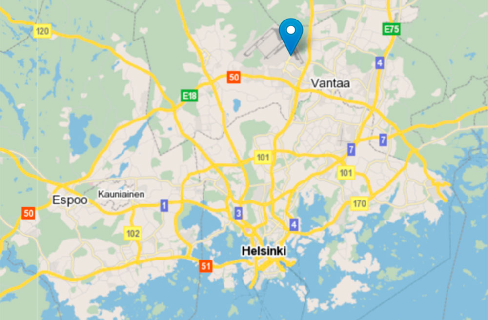 Map of Helsinki Region