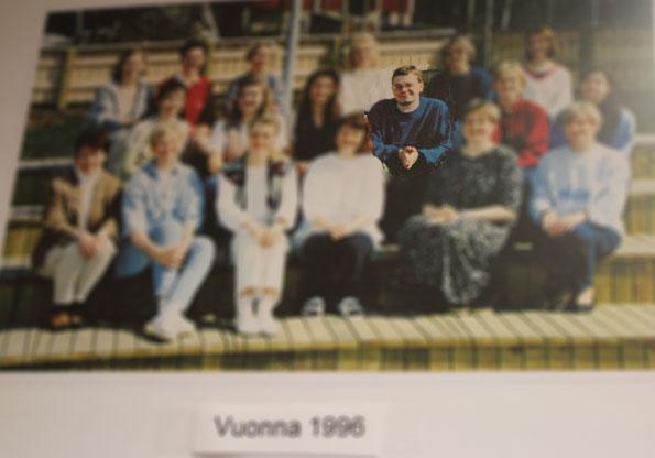 Kilon päiväkodin henkilöstö vuonna 1996.